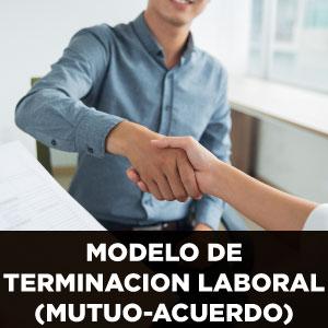 MODELO DE TERMINACION LABORAL (MUTUO ACUERDO)